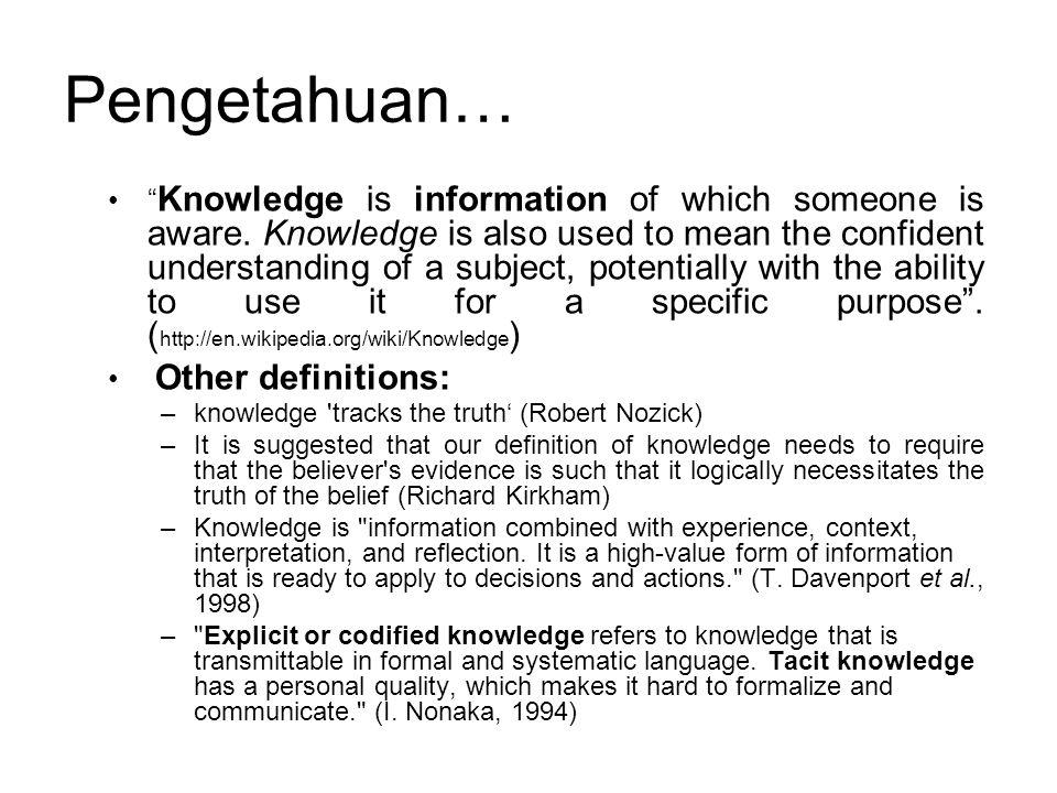 Pengetahuan…