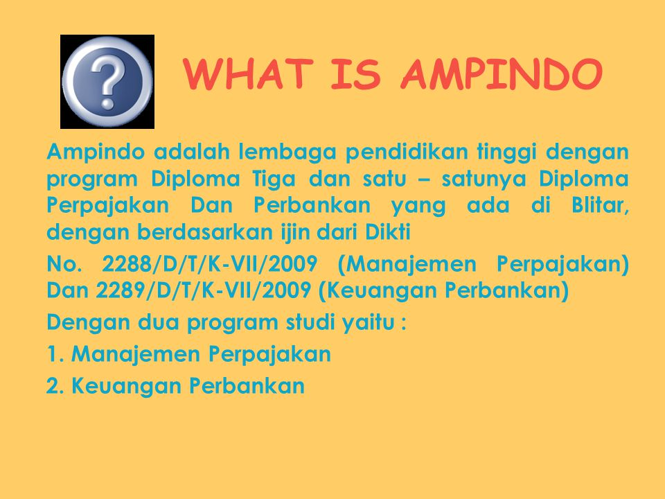 WHAT IS AMPINDO