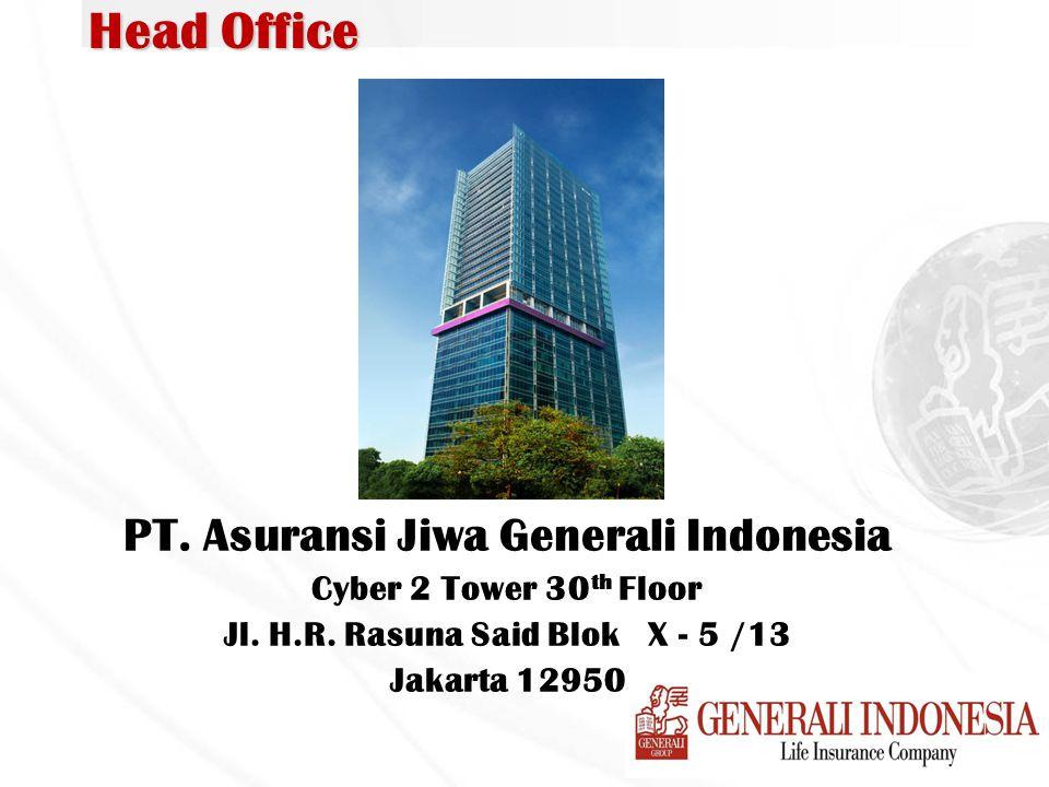 Head Office PT. Asuransi Jiwa Generali Indonesia