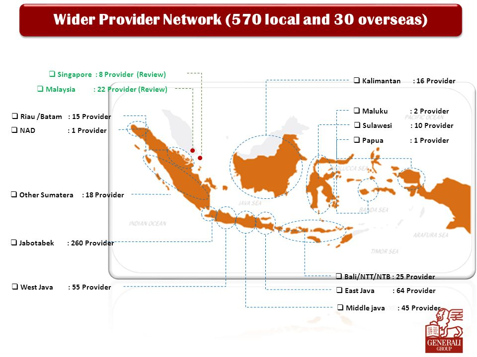 Wider Provider Network (570 local and 30 overseas)