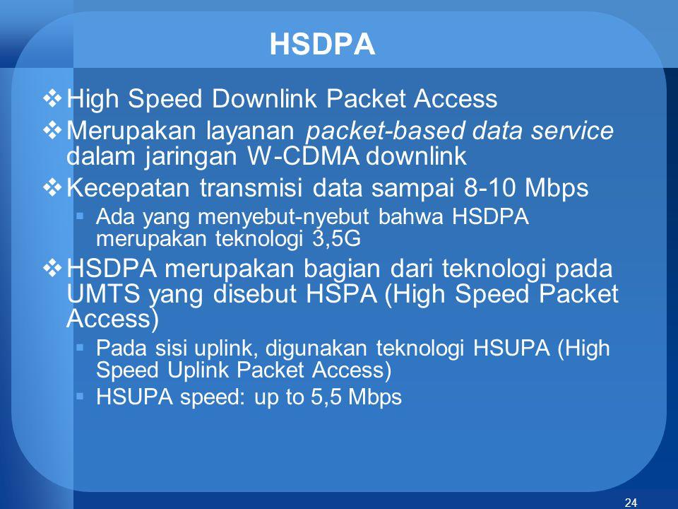 HSDPA High Speed Downlink Packet Access