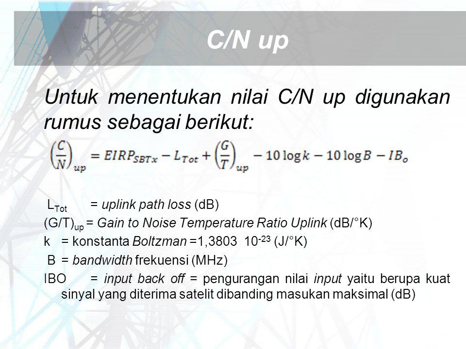 C/N up Untuk menentukan nilai C/N up digunakan rumus sebagai berikut: