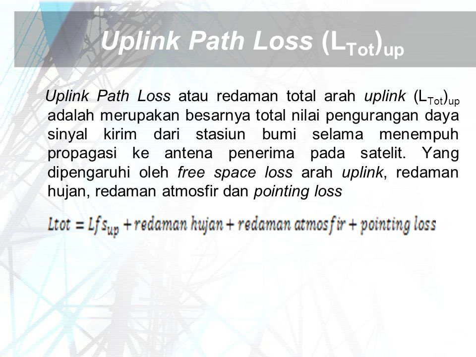 Uplink Path Loss (LTot)up