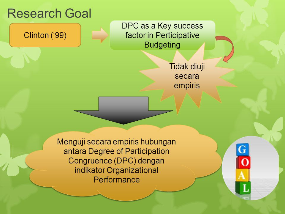 Research Goal DPC as a Key success factor in Perticipative Budgeting