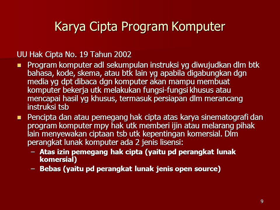 Karya Cipta Program Komputer