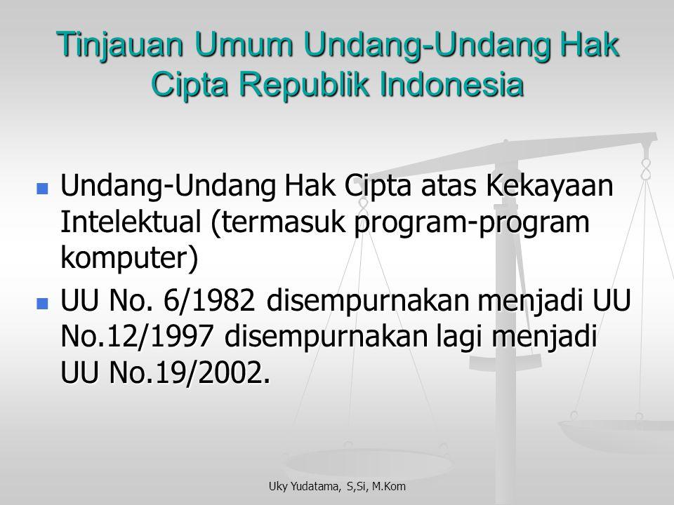 Tinjauan Umum Undang-Undang Hak Cipta Republik Indonesia