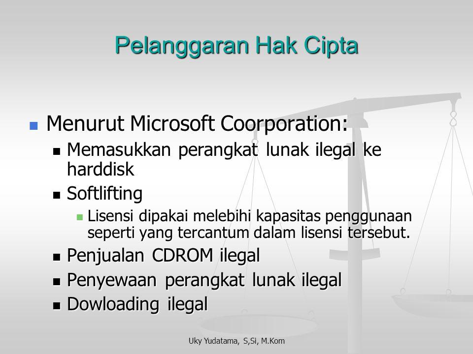 Pelanggaran Hak Cipta Menurut Microsoft Coorporation: