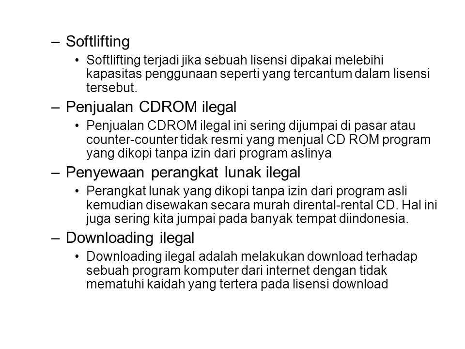 Penjualan CDROM ilegal
