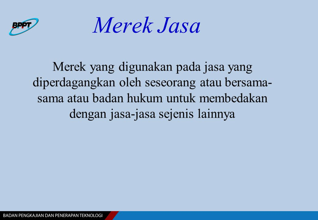 Merek Jasa