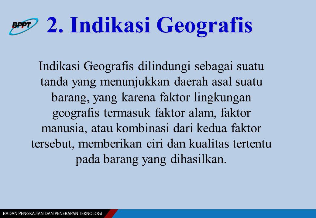 2. Indikasi Geografis