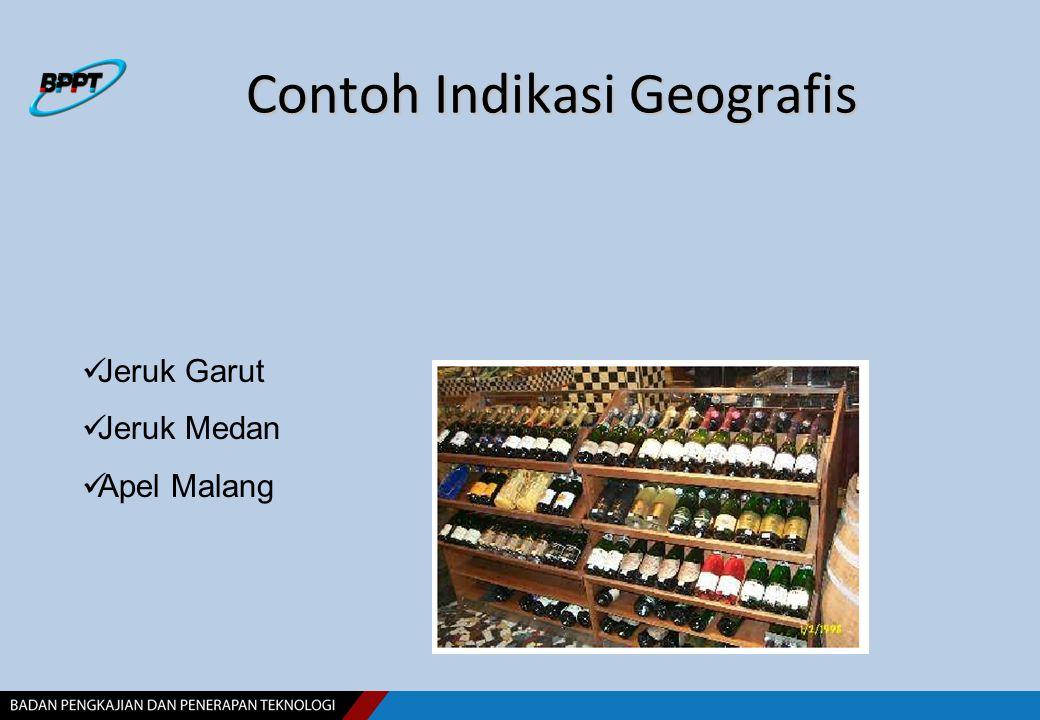 Contoh Indikasi Geografis