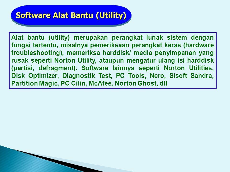 Software Alat Bantu (Utility)