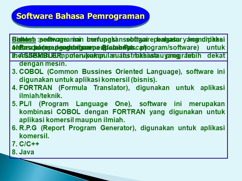 Software Bahasa Pemrograman