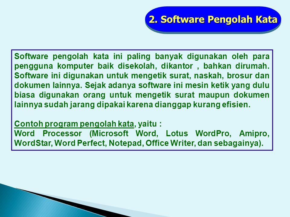 2. Software Pengolah Kata
