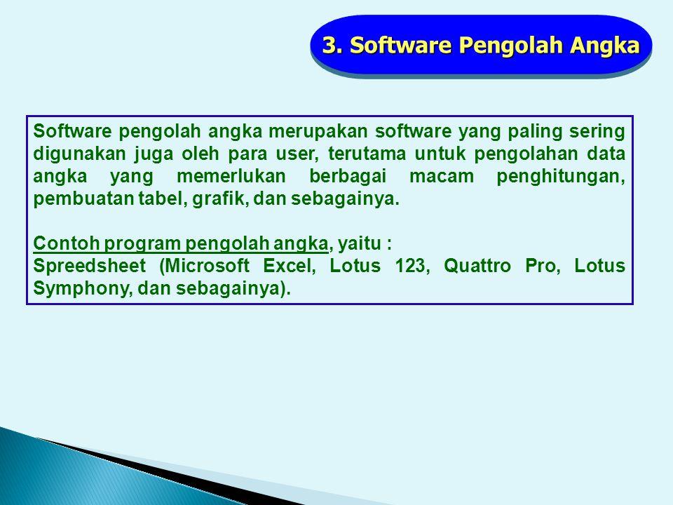 3. Software Pengolah Angka