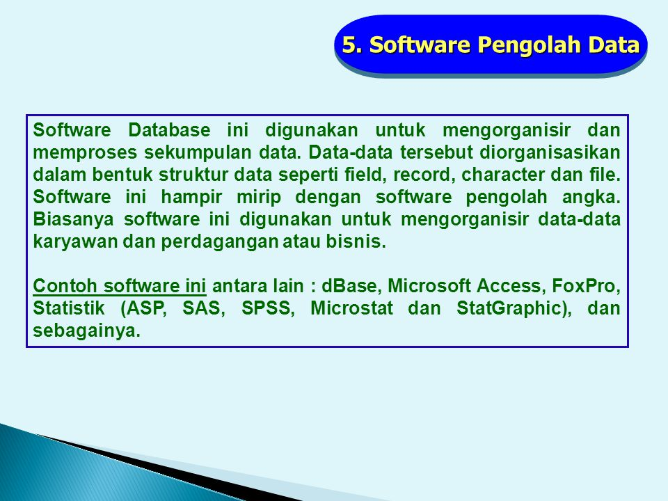 5. Software Pengolah Data