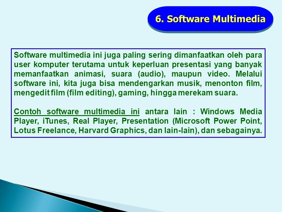 6. Software Multimedia