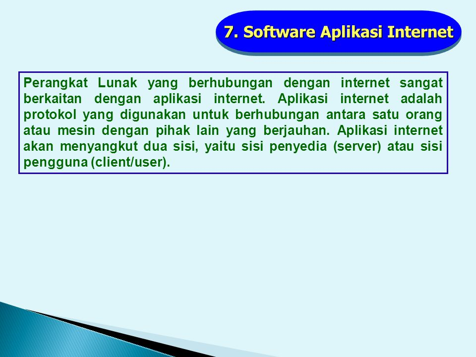 7. Software Aplikasi Internet