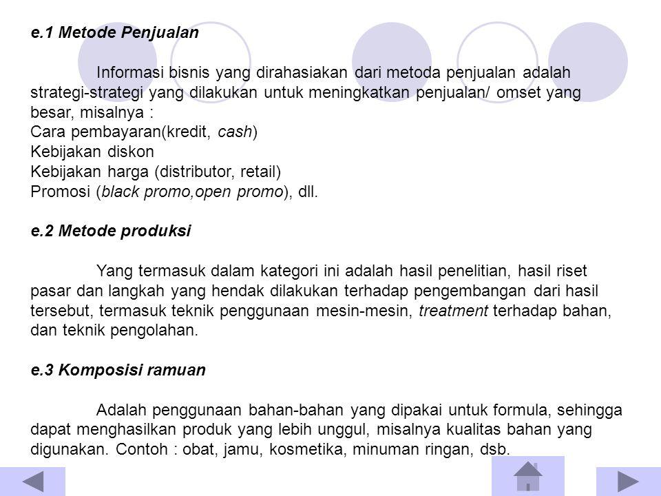 e.1 Metode Penjualan