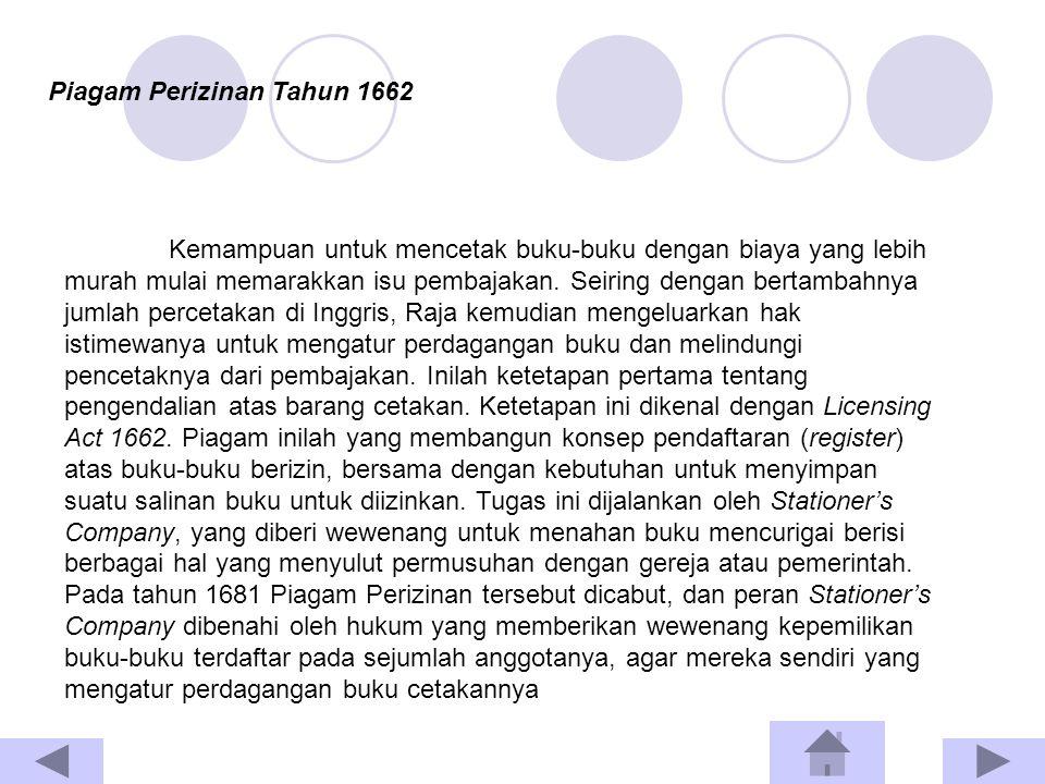 Piagam Perizinan Tahun 1662