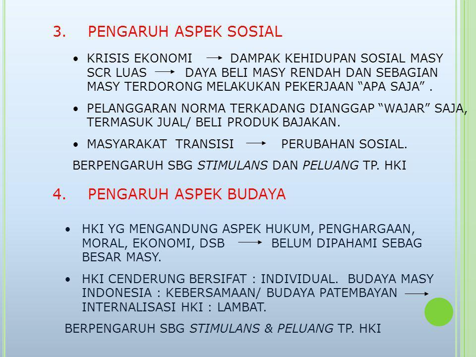 3. PENGARUH ASPEK SOSIAL 4. PENGARUH ASPEK BUDAYA