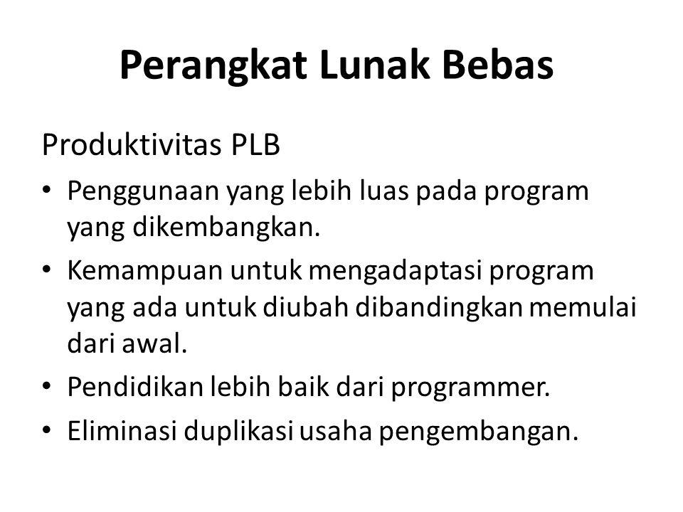 Perangkat Lunak Bebas Produktivitas PLB