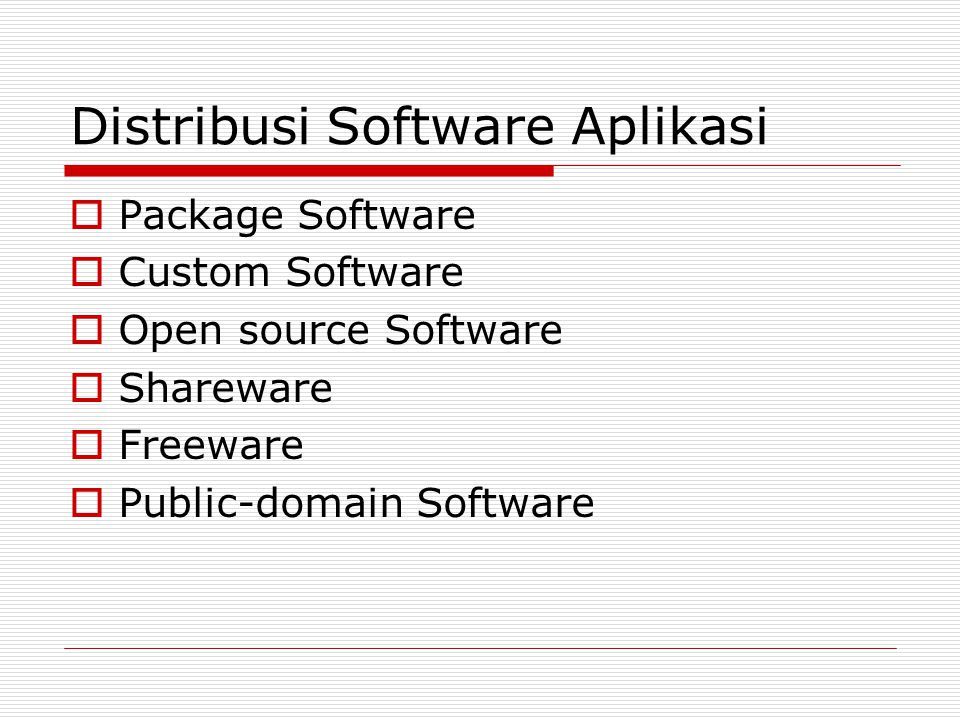 Distribusi Software Aplikasi