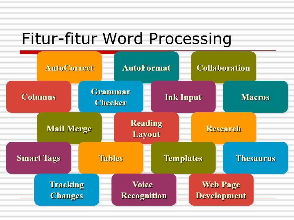 Fitur-fitur Word Processing