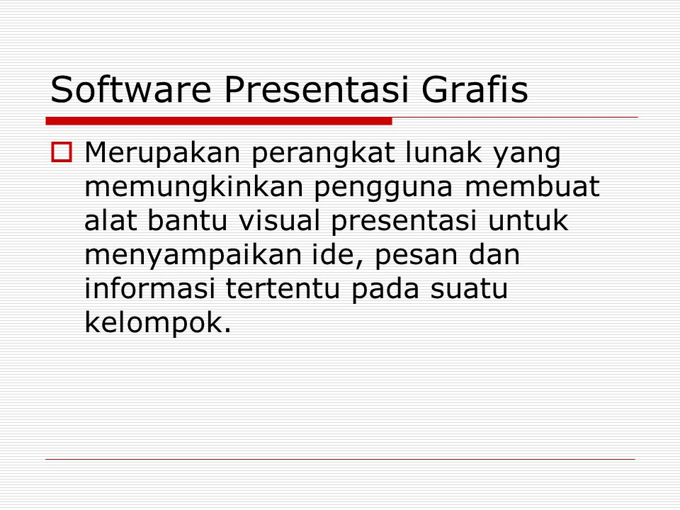 Software Presentasi Grafis