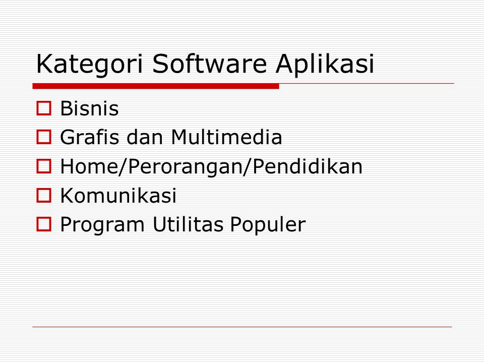 Kategori Software Aplikasi