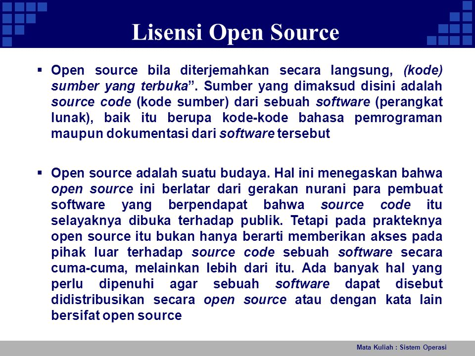 Lisensi Open Source