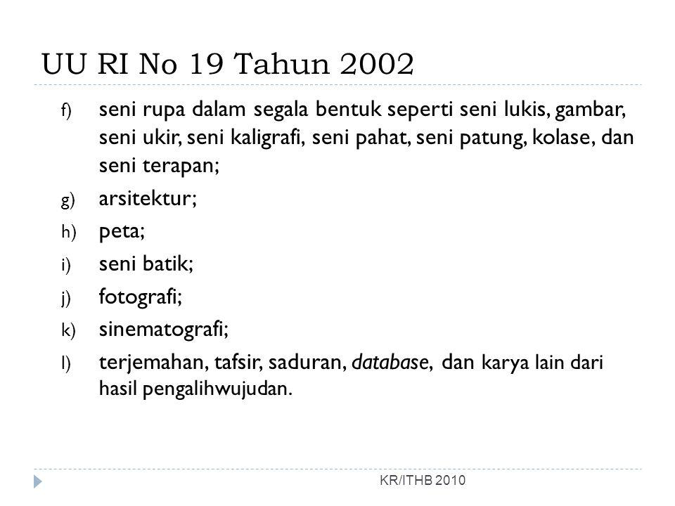 UU RI No 19 Tahun 2002