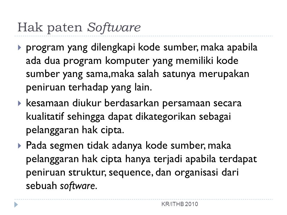 Hak paten Software