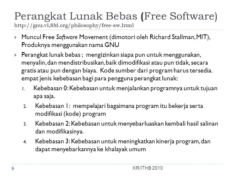Perangkat Lunak Bebas (Free Software) http://gnu. vLSM
