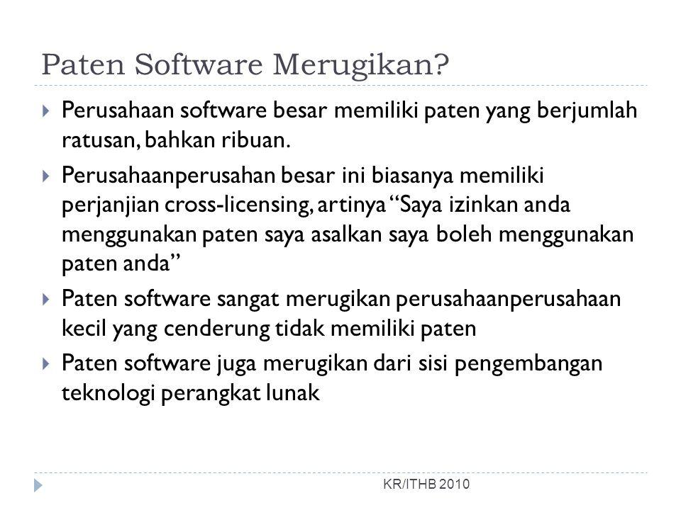 Paten Software Merugikan