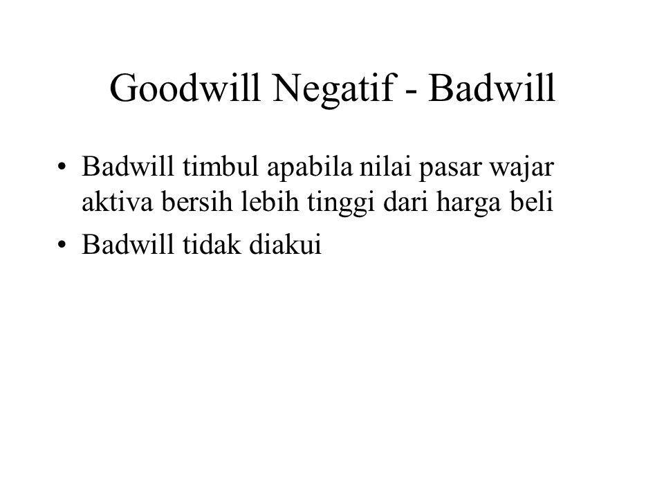 Goodwill Negatif - Badwill