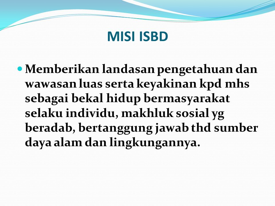 MISI ISBD