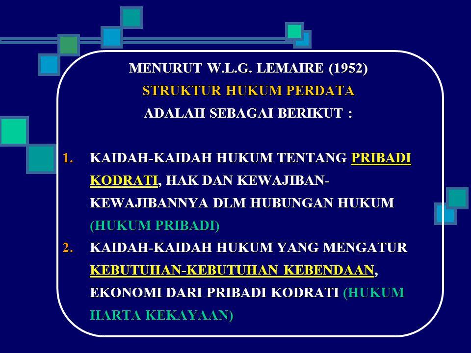 STRUKTUR HUKUM PERDATA ADALAH SEBAGAI BERIKUT :