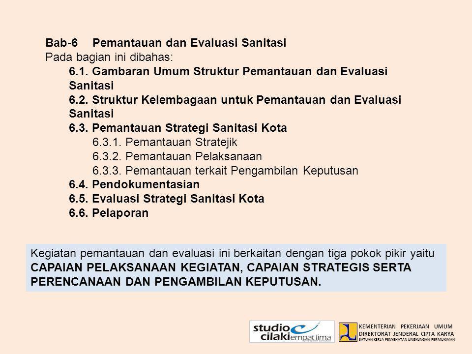 Bab-6 Pemantauan dan Evaluasi Sanitasi Pada bagian ini dibahas: