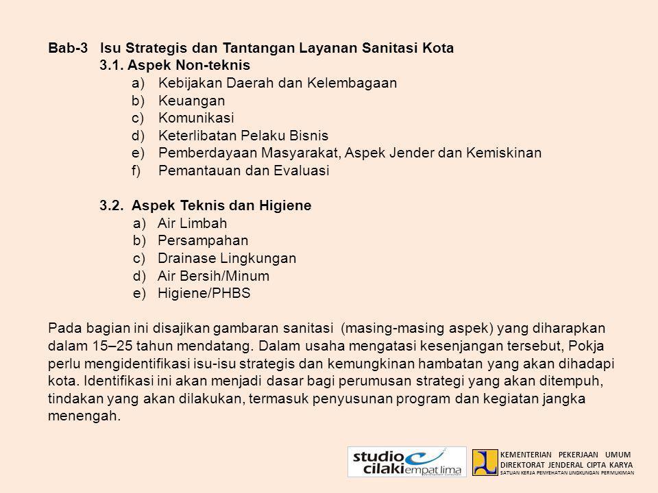 Bab-3 Isu Strategis dan Tantangan Layanan Sanitasi Kota