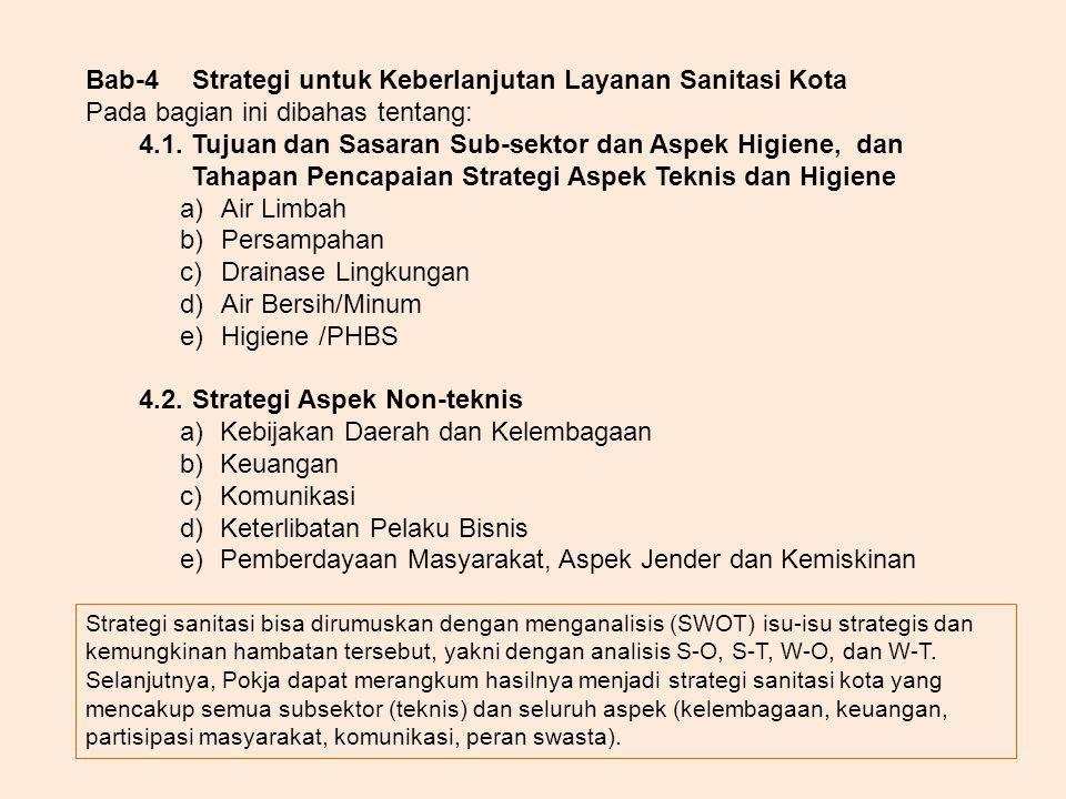 Bab-4 Strategi untuk Keberlanjutan Layanan Sanitasi Kota