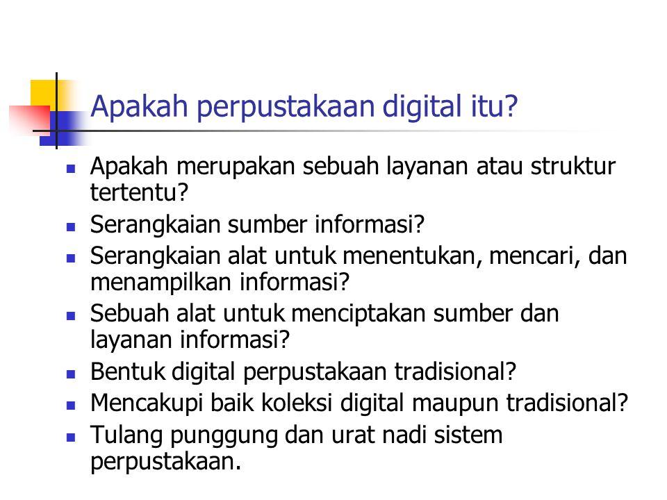 Apakah perpustakaan digital itu