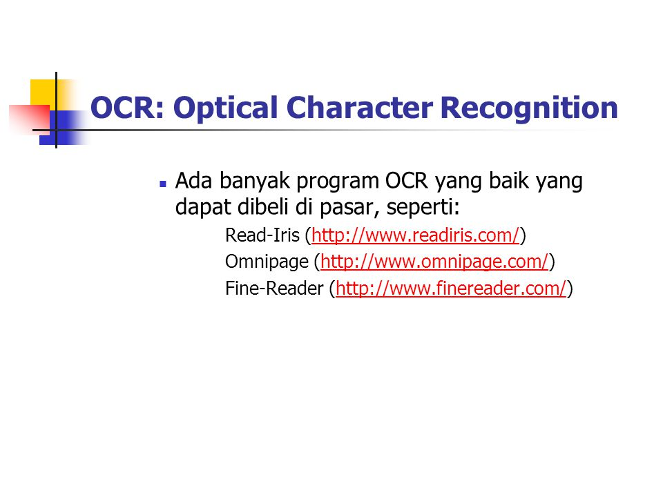 OCR: Optical Character Recognition