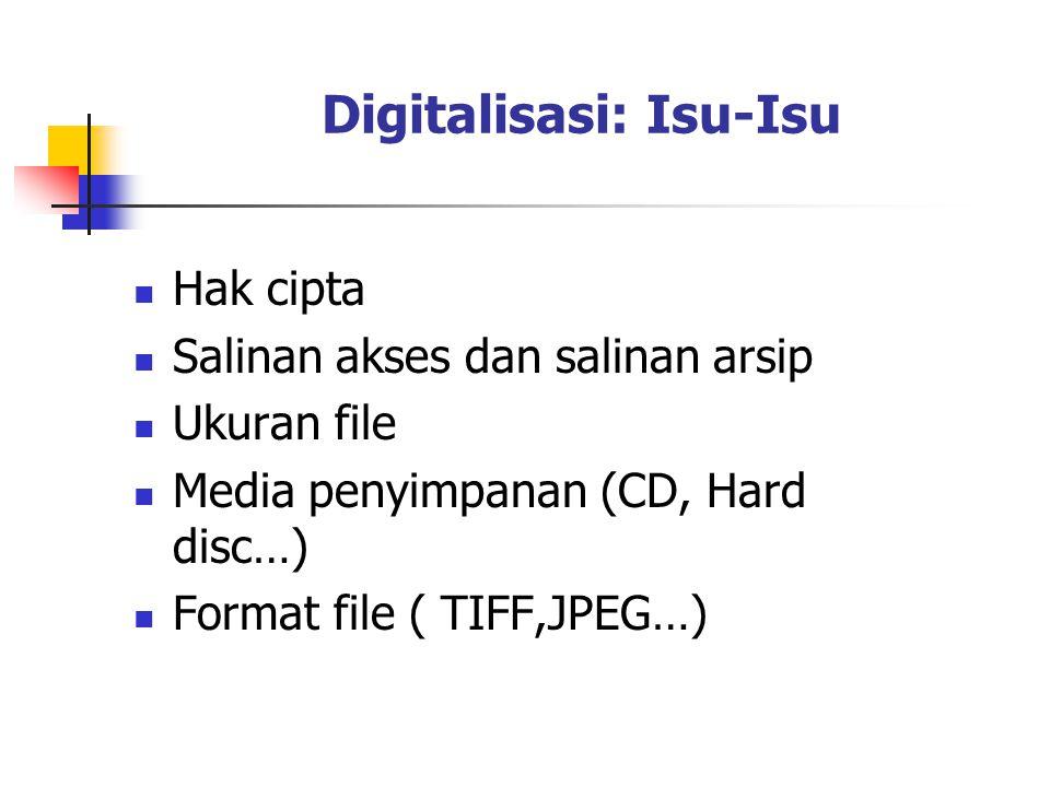 Digitalisasi: Isu-Isu