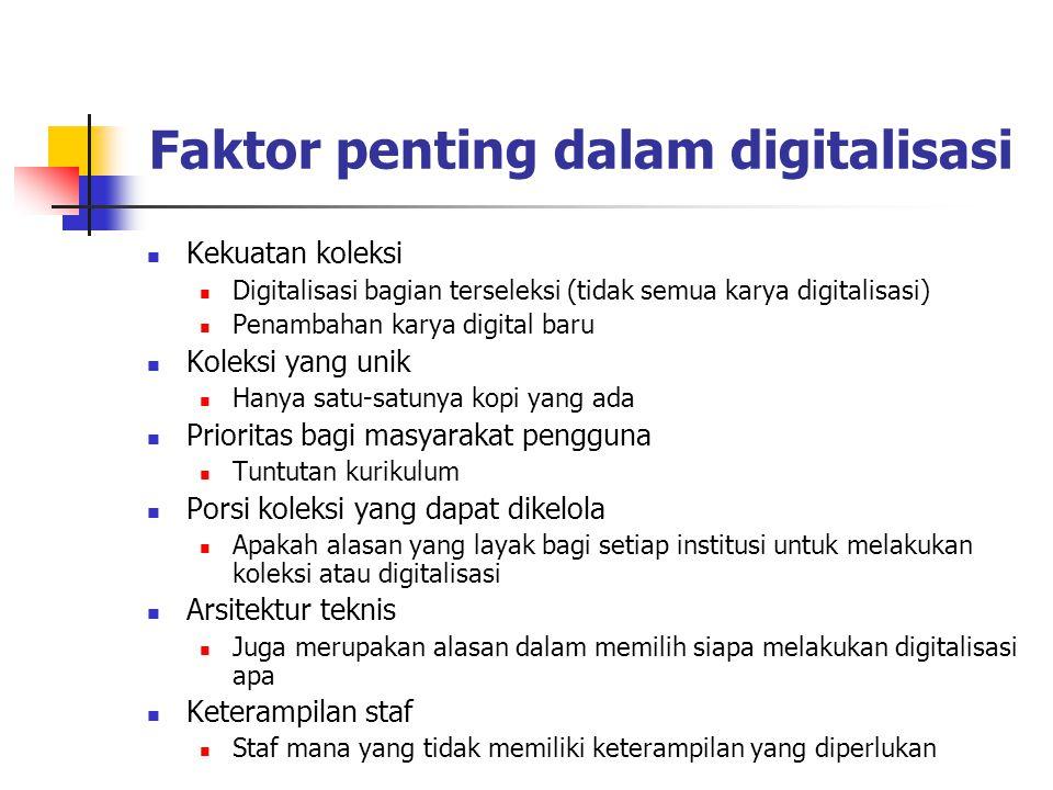 Faktor penting dalam digitalisasi