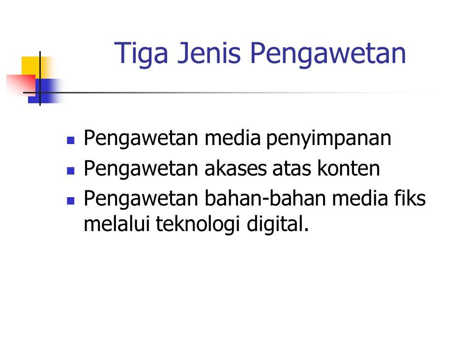 Tiga Jenis Pengawetan Pengawetan media penyimpanan