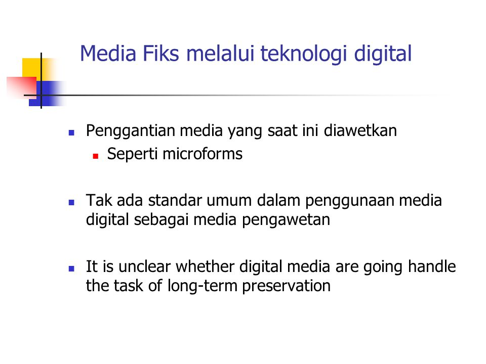 Media Fiks melalui teknologi digital