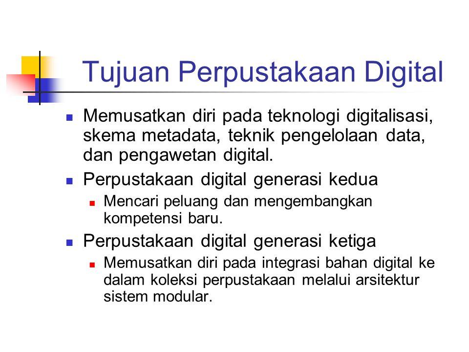 Tujuan Perpustakaan Digital