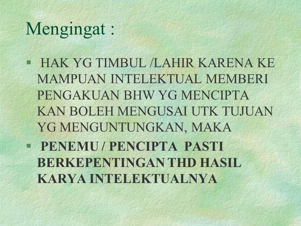 Mengingat :