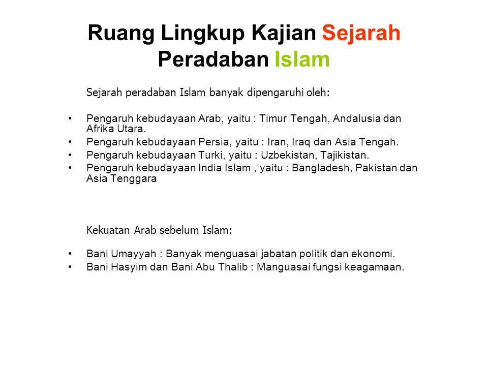 Ruang Lingkup Kajian Sejarah Peradaban Islam